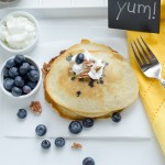 wheatfree blueberry pancakes