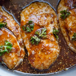 honey garlic crock pot chicken
