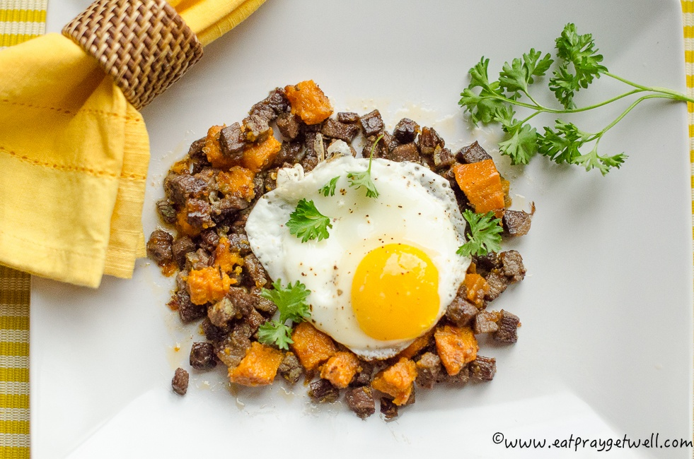 sweet potato corned beef hash-2