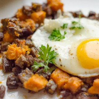 sweet potato corned beef hash