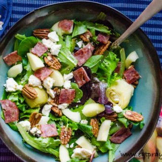 Winter Apple Bacon Salad With Maple Vinaigrette Dressing