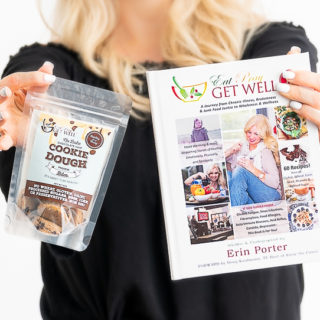 Eat Pray Get Well Book For Sale & We Are Giving Away Our Cookie Dough Bites Free With Book Purchase!